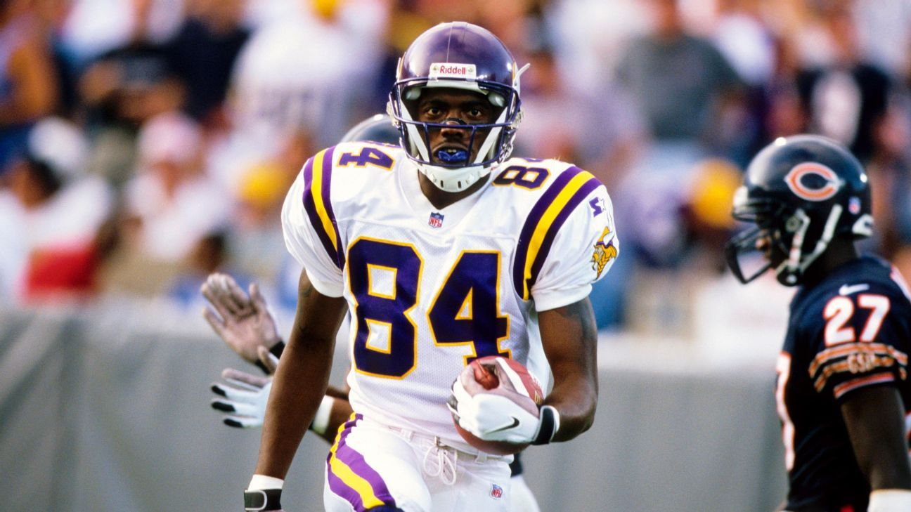Randy Moss never had fewer than 1,233 yards in a season from 1998-2003.