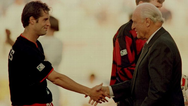 John Harkes and Joao Havelange