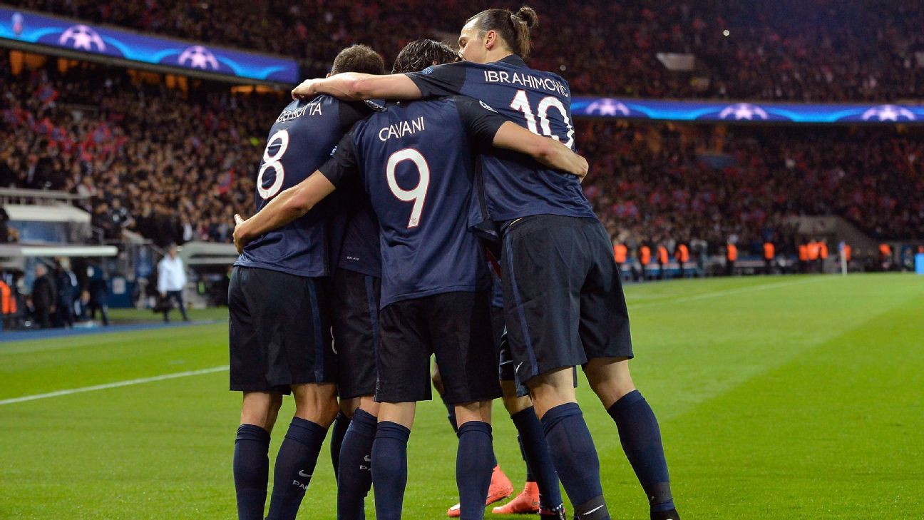 Paris Saint-Germain celebrate