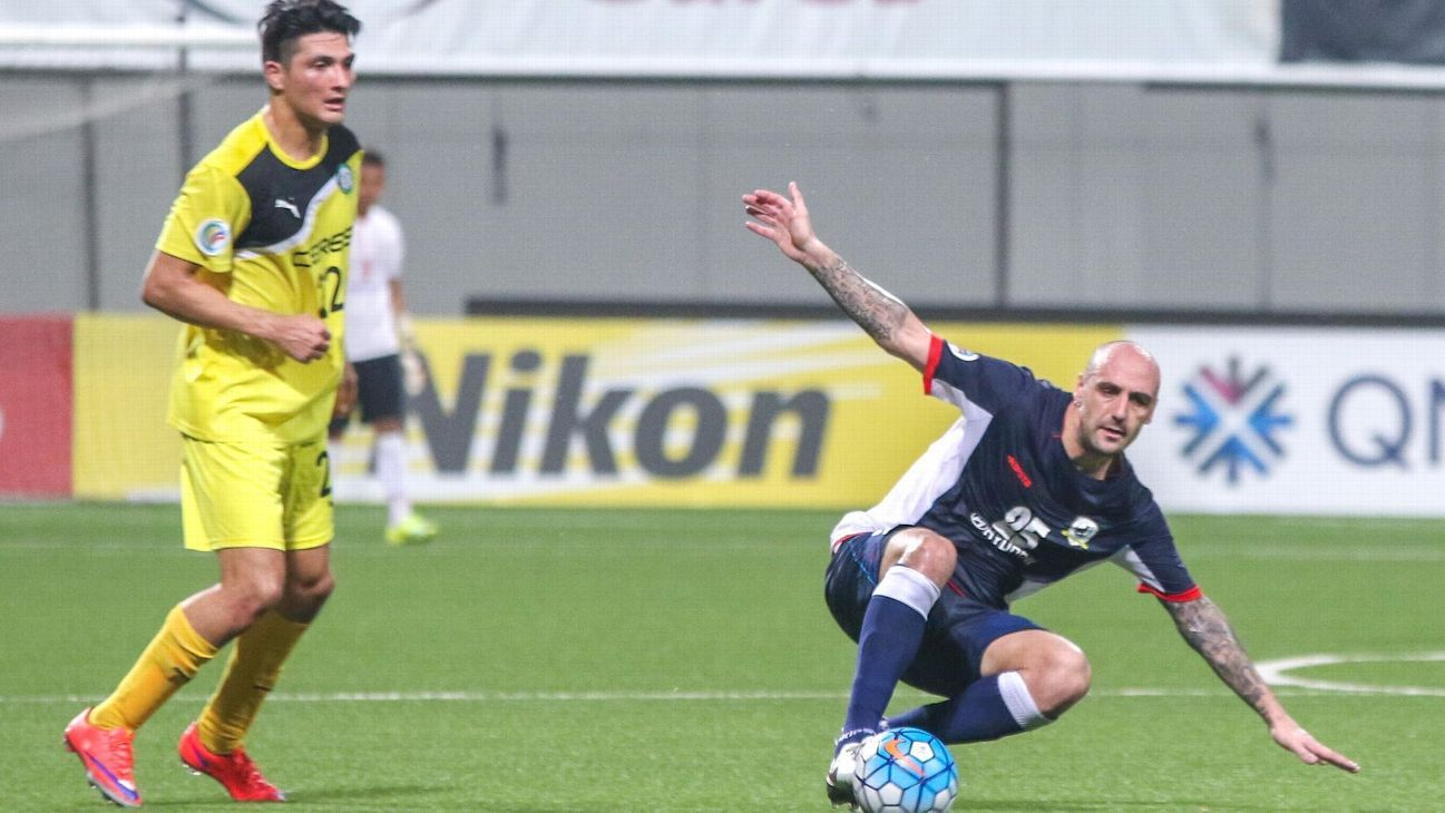 Tampines striker Billy Mehmet