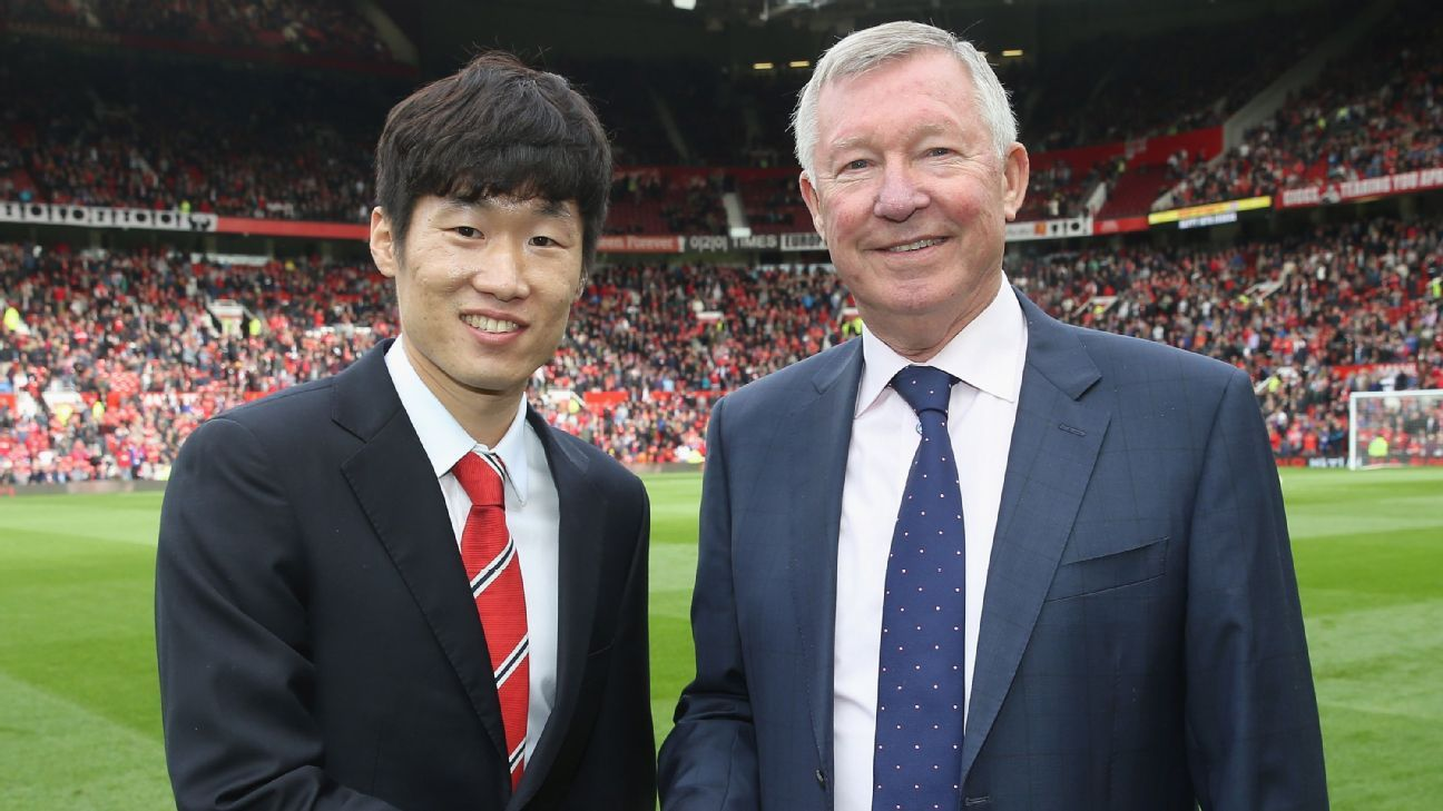 Park Ji Sung and Sir Alex Ferguson