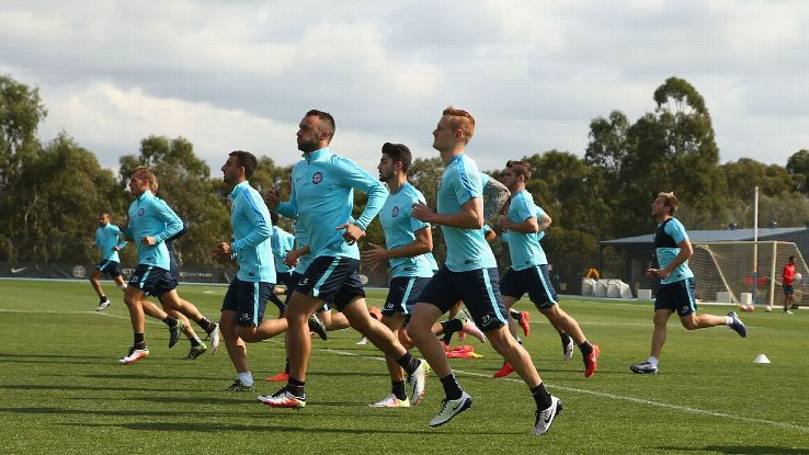 Melbourne City FC training