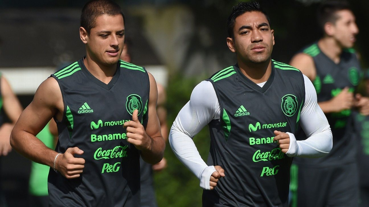 Chicharito and Marco Fabian