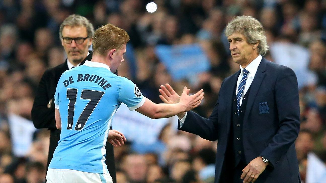 Kevin De Bruyne and Manuel Pellegrini