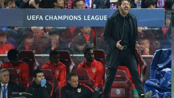 Diego Simeone yelling v Barca