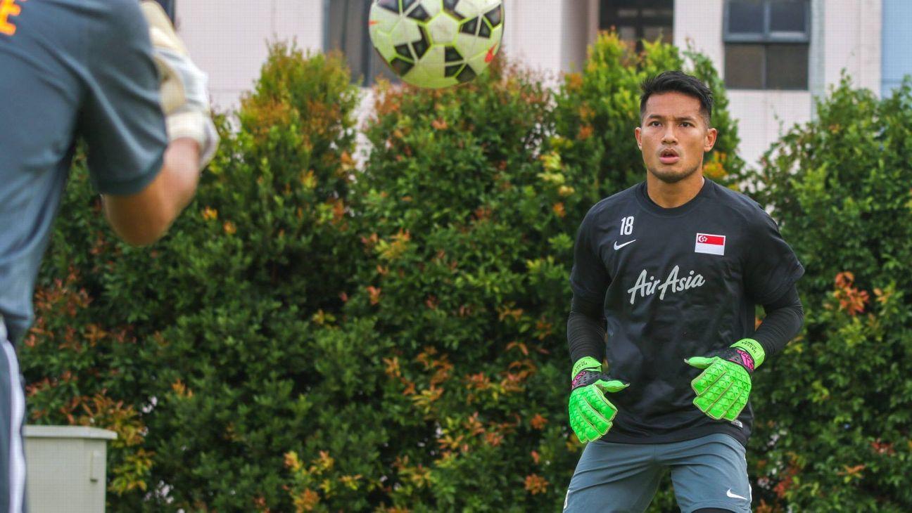 Singapore goalkeeper Hassan Sunny