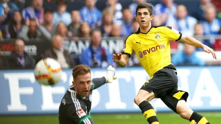 American Christian Pulisic became the youngest foreign goal scorer in Bundesliga history last season.