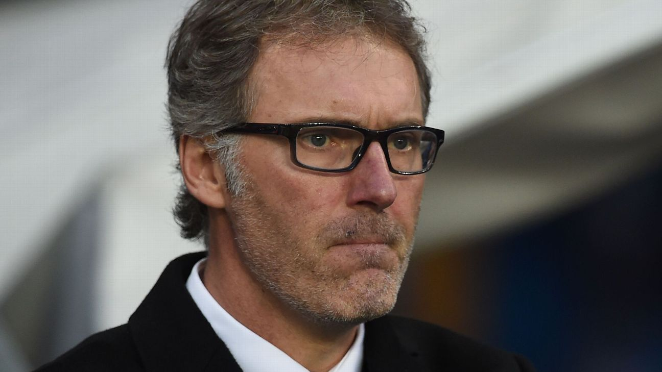 Laurent Blanc sad looking