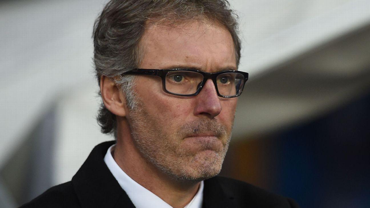 Laurent Blanc sad looking
