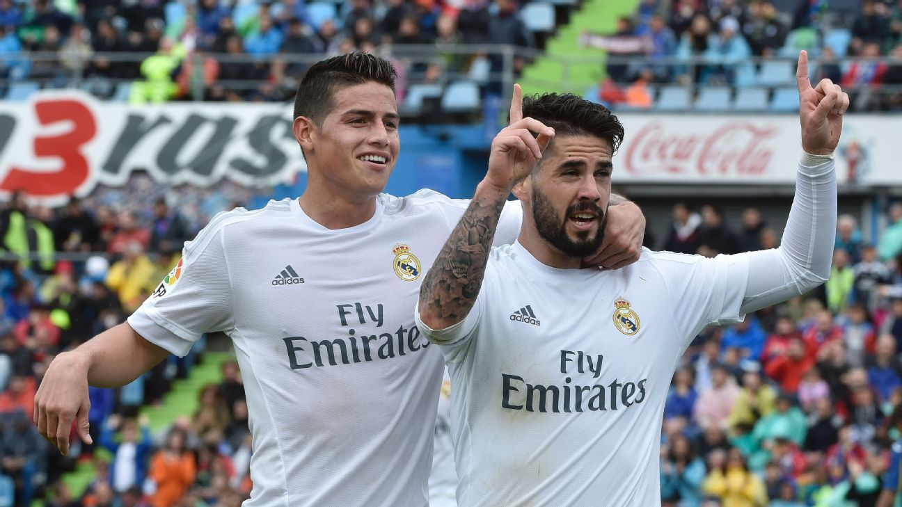 James and Isco v Getafe