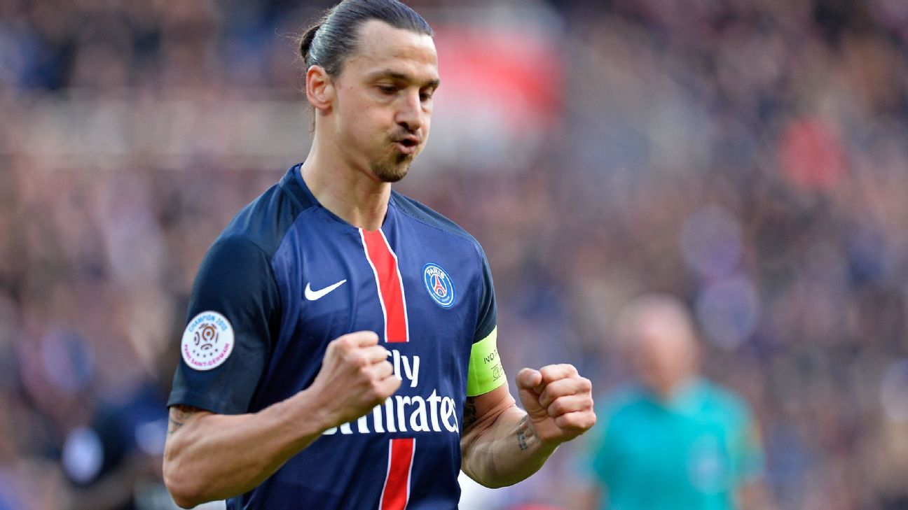 Zlatan Ibrahimovic v Caen