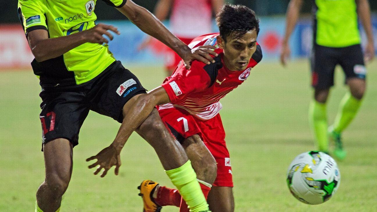 Home United midfielder Aqhari Abdullah