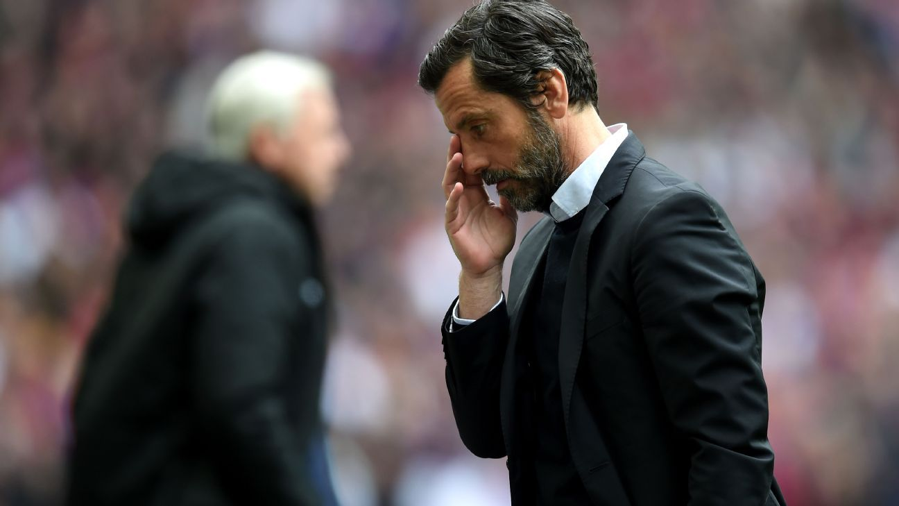 Quique Sanchez Flores sad FA Cup semi