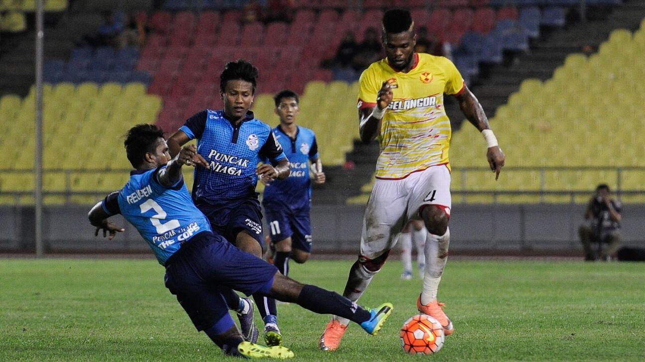 Selangor striker Patrick Wleh