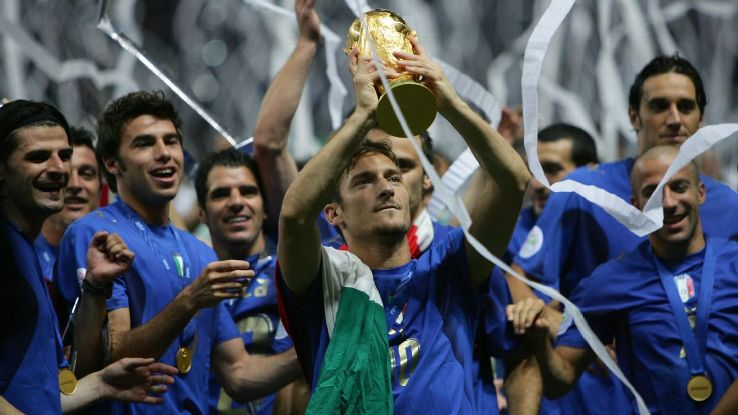 Italy World Cup striker Francesco Totti