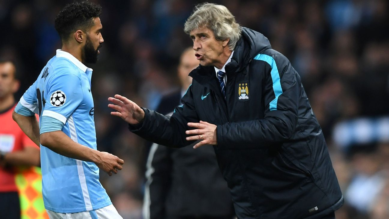 Pellegrini talking to Clichy