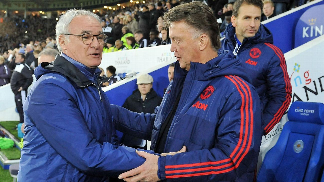 Claudio Ranieri and Louis van Gaal