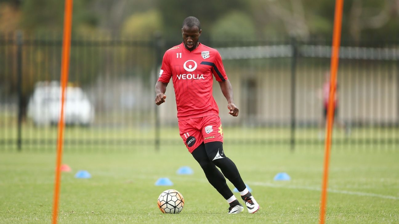 Adelaide United striker Bruce Djite