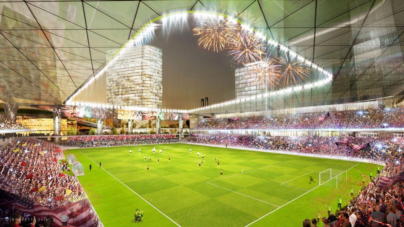 Detroit MLS stadium rendering