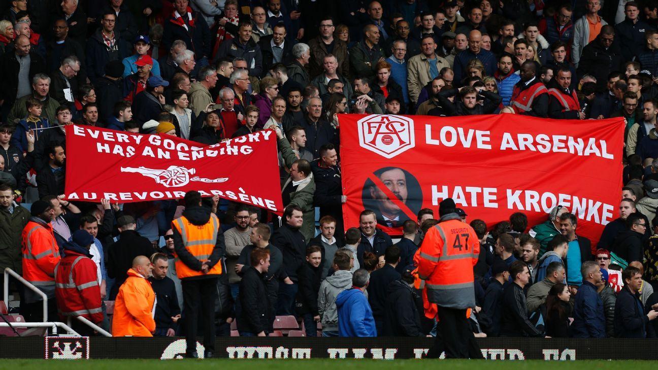 Anti-Kroenke banners