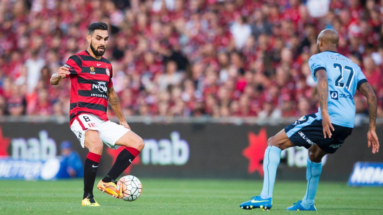 Western Sydney's Dimas Delgado