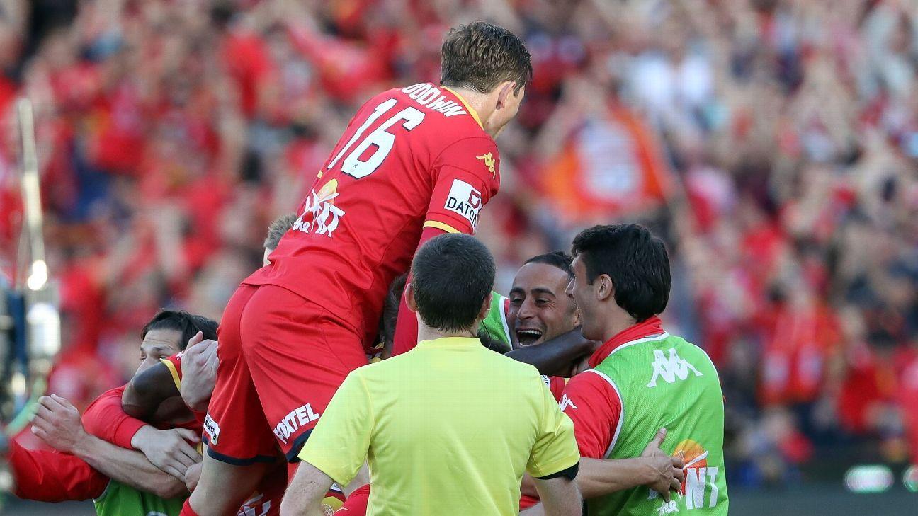 Adelaide United celebrates