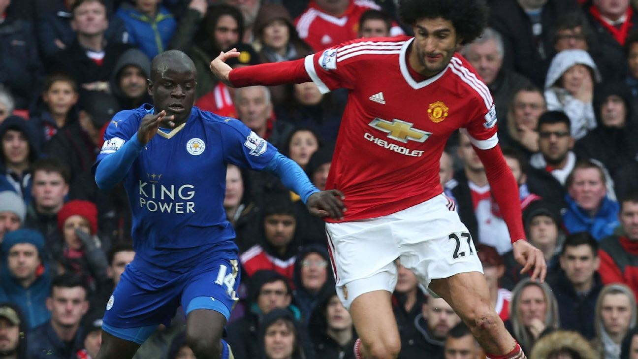 N'Golo Kante and Marouane Fellaini