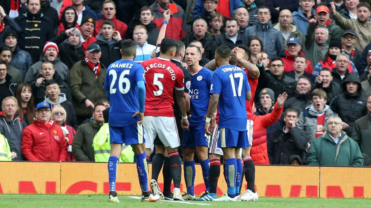 Danny Drinkwater red card 20160501