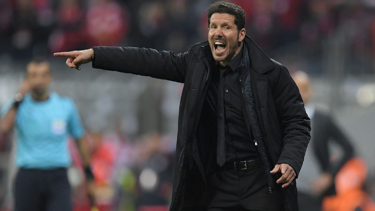 Diego Simeone yelling vs. Bayern