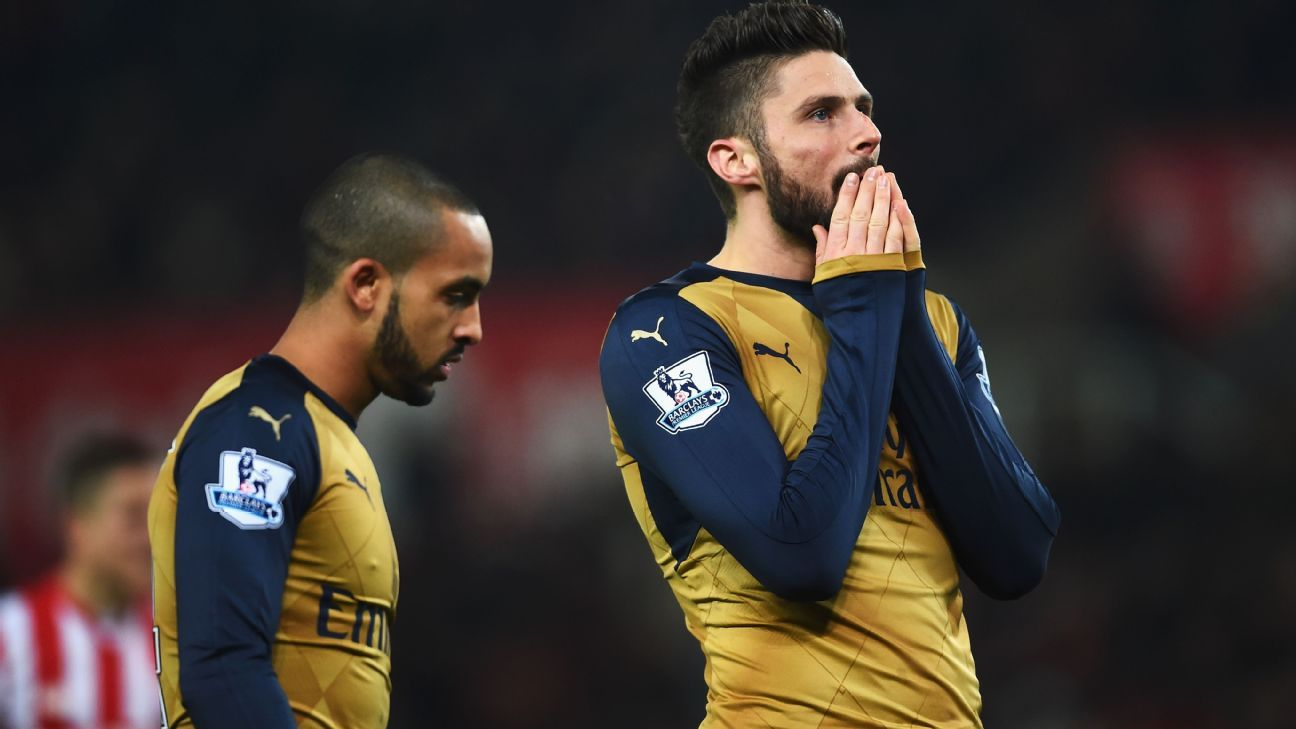 Walcott and Giroud sad