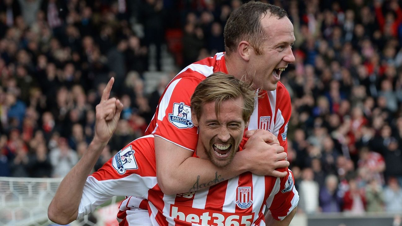 Peter Crouch and Charlie Adam