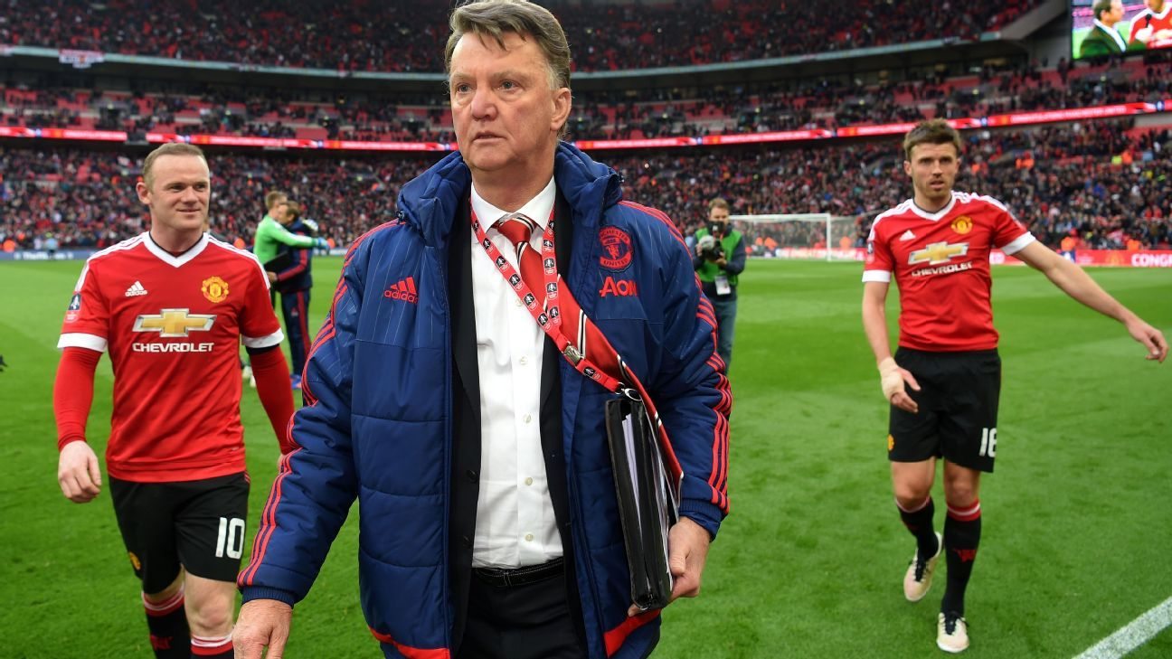 Van Gaal leaving Wembley