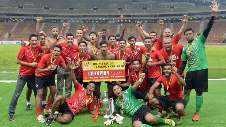 Singapore Selection win 2016 Sultan of Selangor Cup after penalty shoot out victory over Selangor at Shah Alam Stadium.