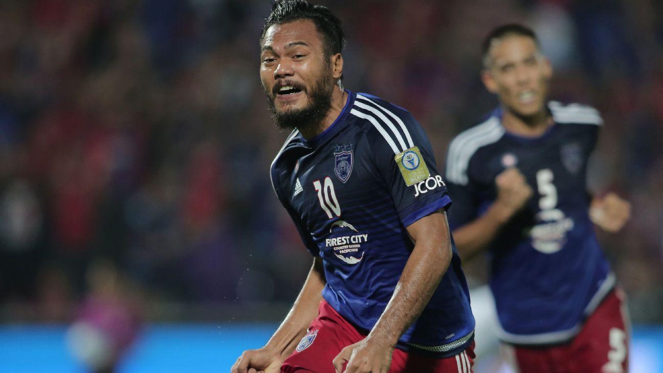 JDT striker Safee Sali