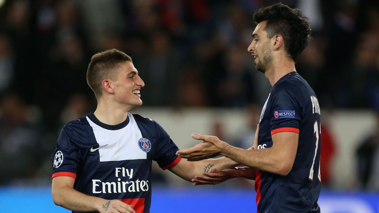 Marco Verratti and Javier Pastore