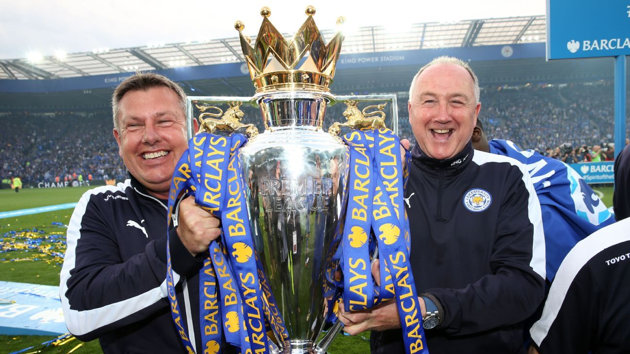Leicester's Craig Shakespeare and Steve Walsh