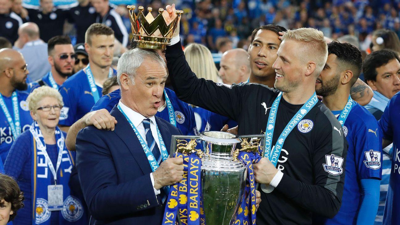 Ranieri crowned by Schmeichel 160508
