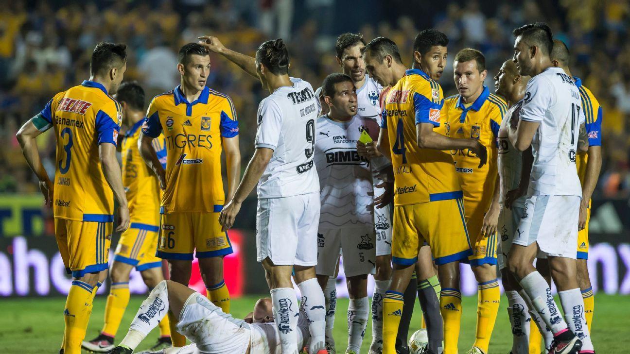 Monterrey Tigres scuffle 160511