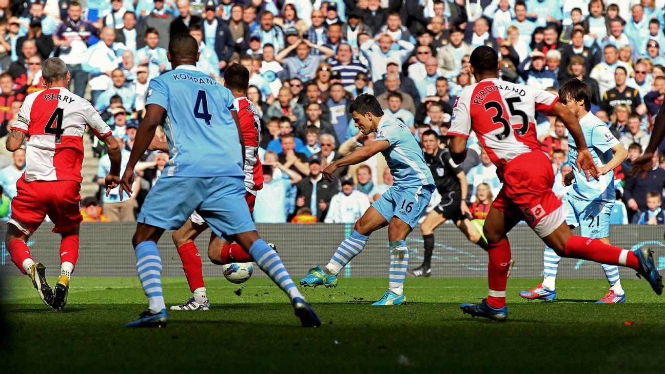 Aguero goal v QPR