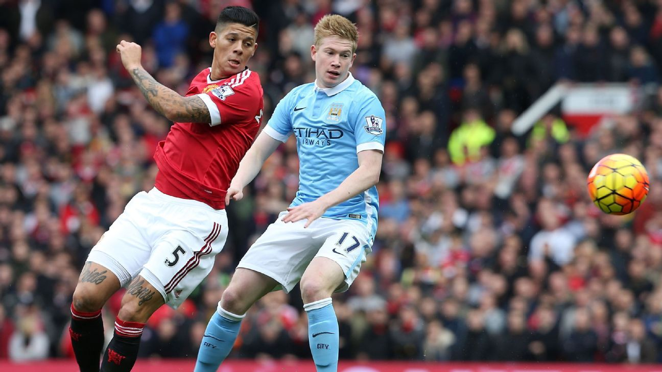 Marcos Rojo and Kevin De Bruyne