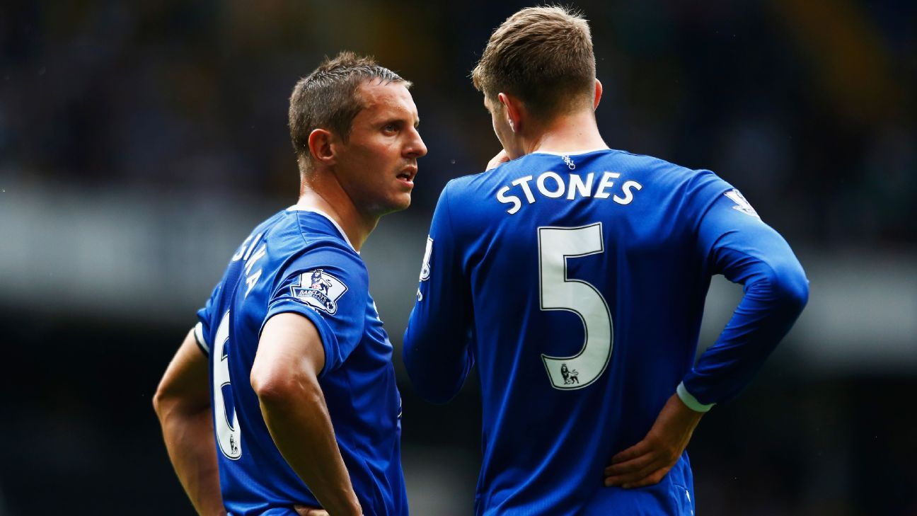 Phil Jagielka and John Stones