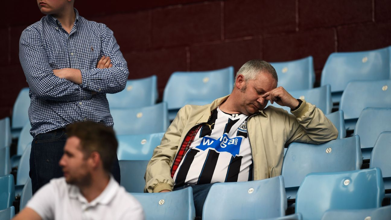 Sad Newcastle fan