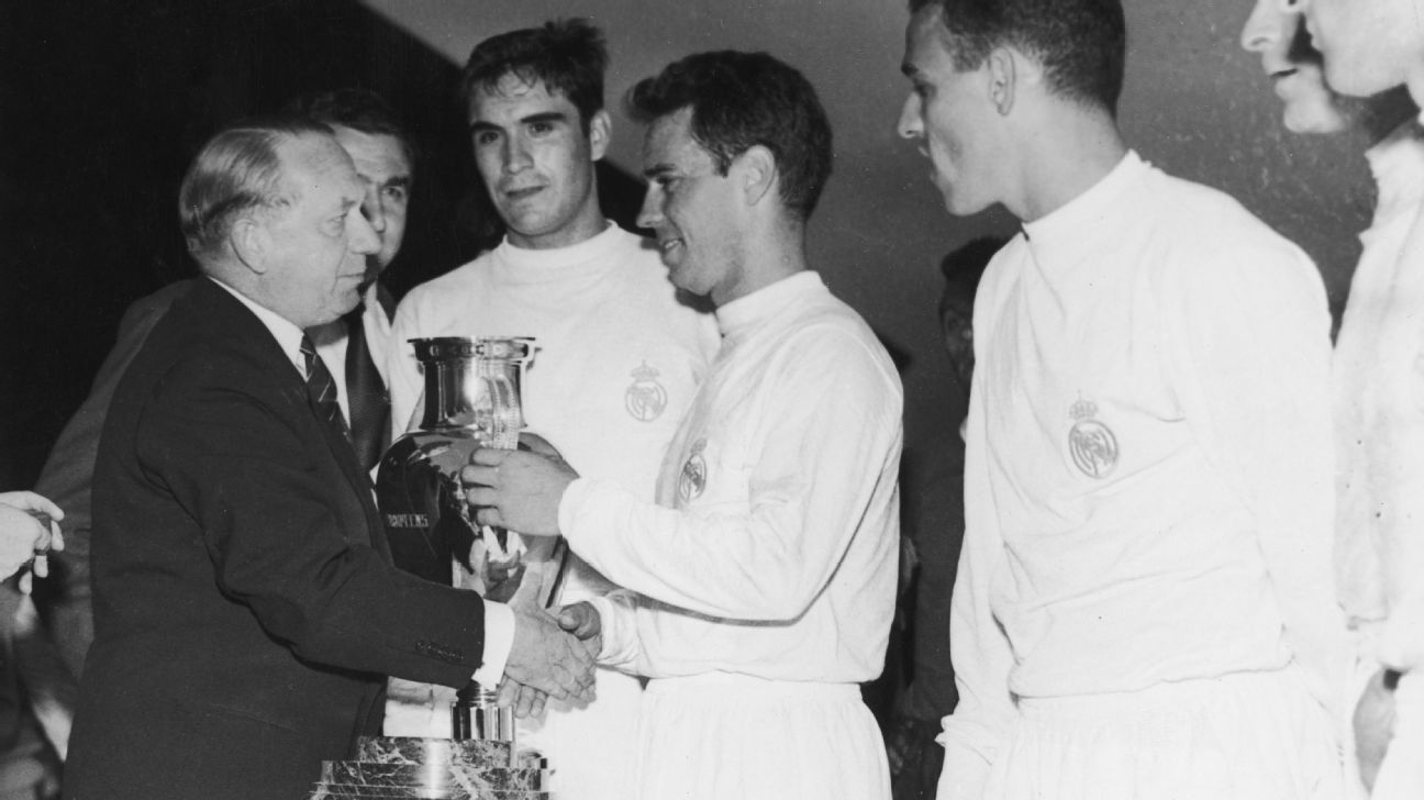Real Madrid winning 1960 Euro Cup