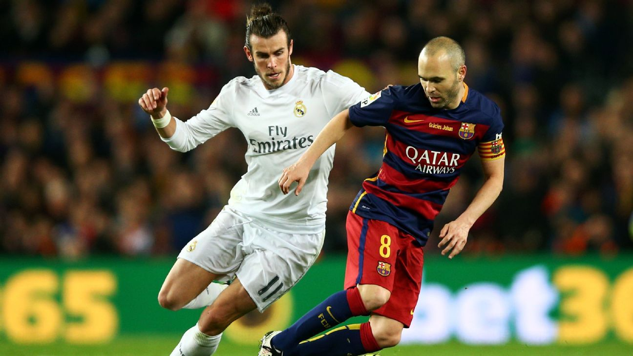 Gareth Bale and Andres Iniesta
