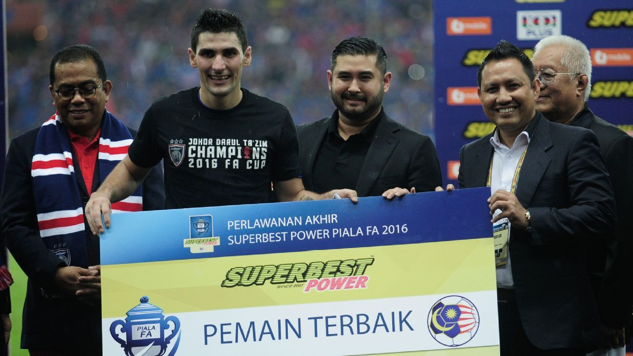 TMJ of JDT at Malaysia FA Cup final with man of match Diaz