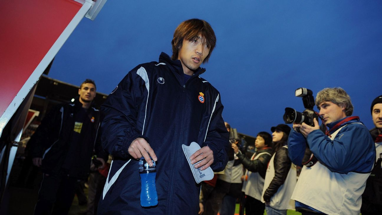 Japan international Shunsuke Nakamura at Spanish club Espanyol in 2010