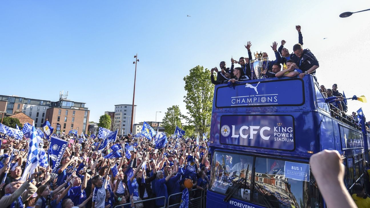 Leicester City celebration
