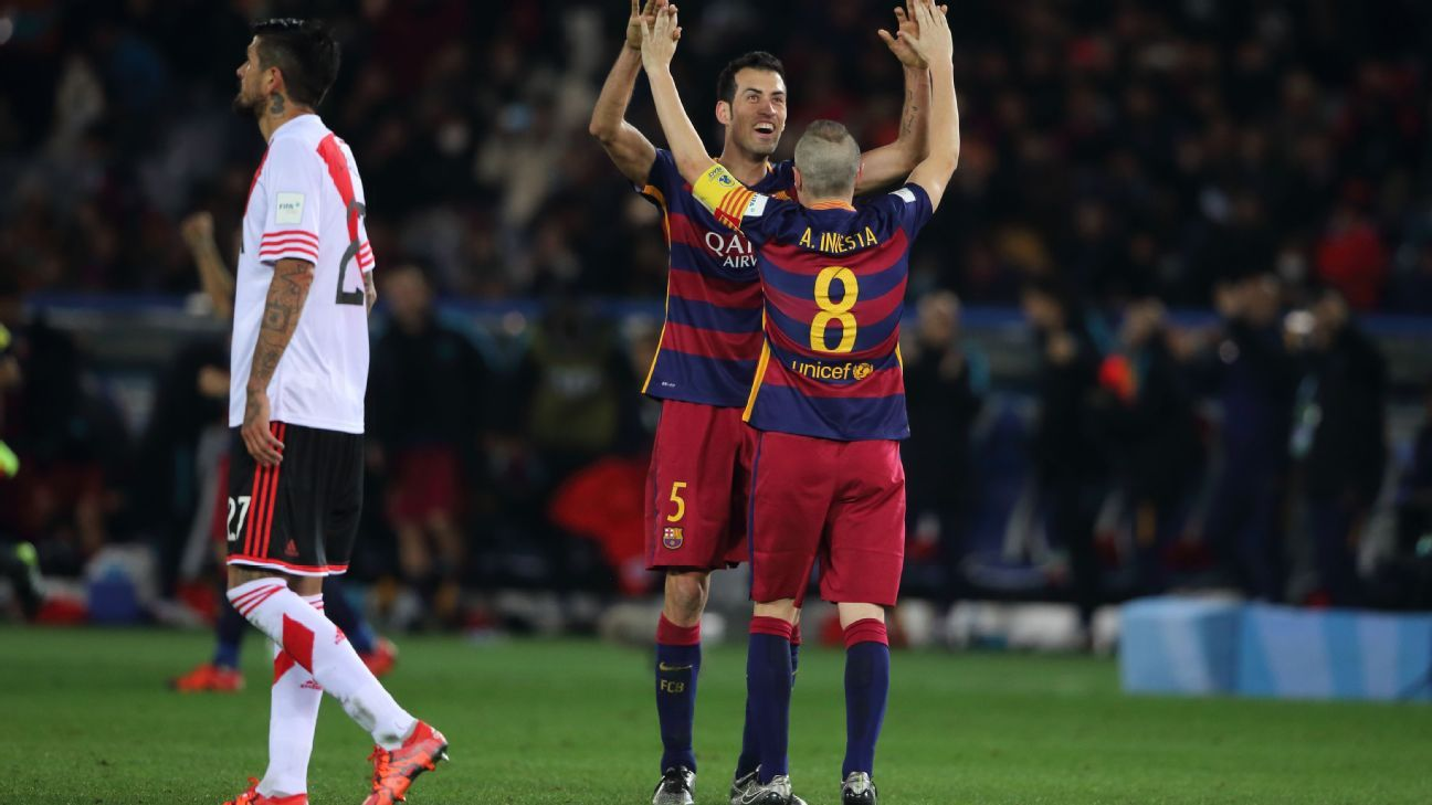 Andres Iniesta and Sergio Busquets have been central to a golden era for Barcelona.