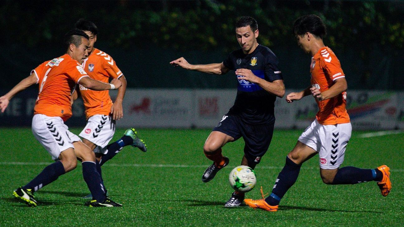 Hougang striker Stipe Plazibat