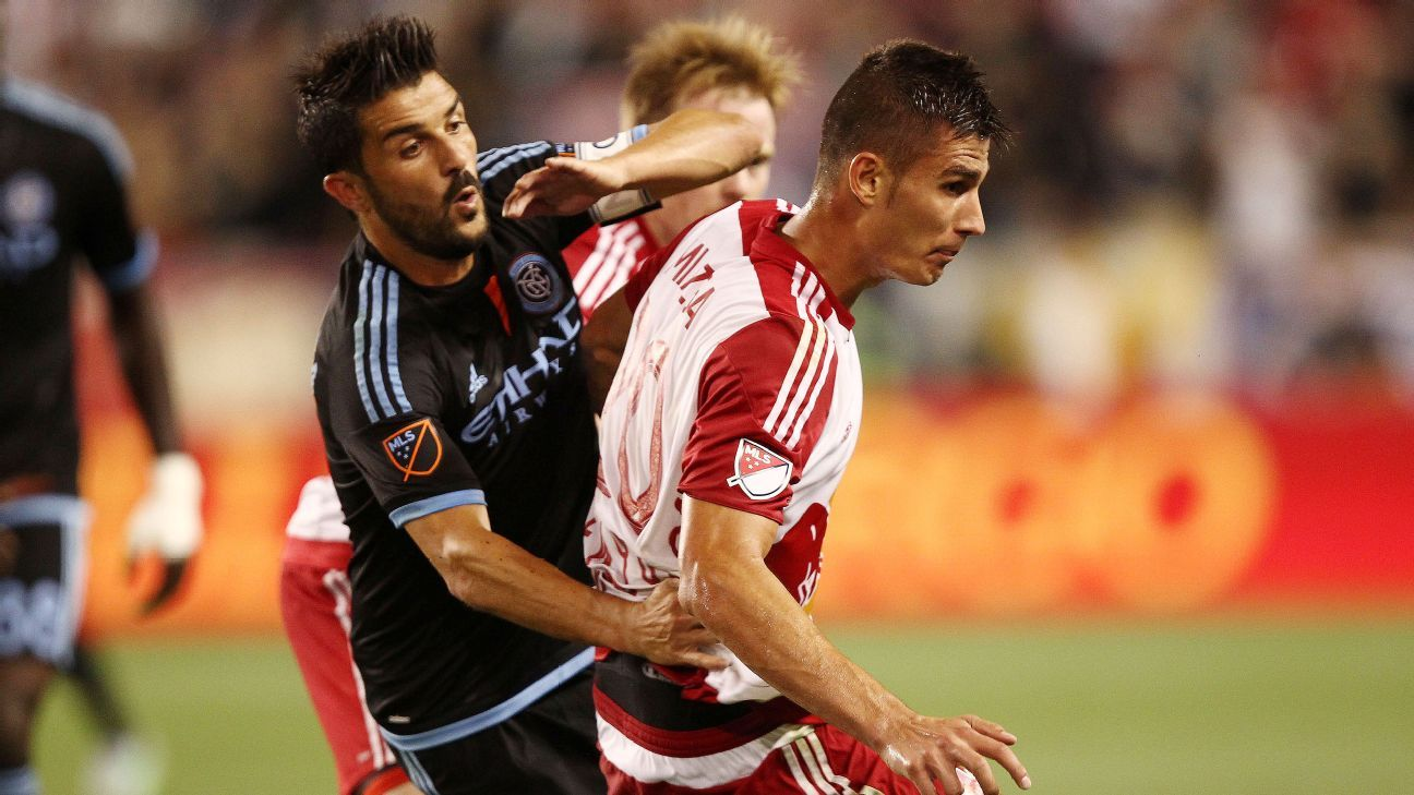 David Villa and Matt Miazga